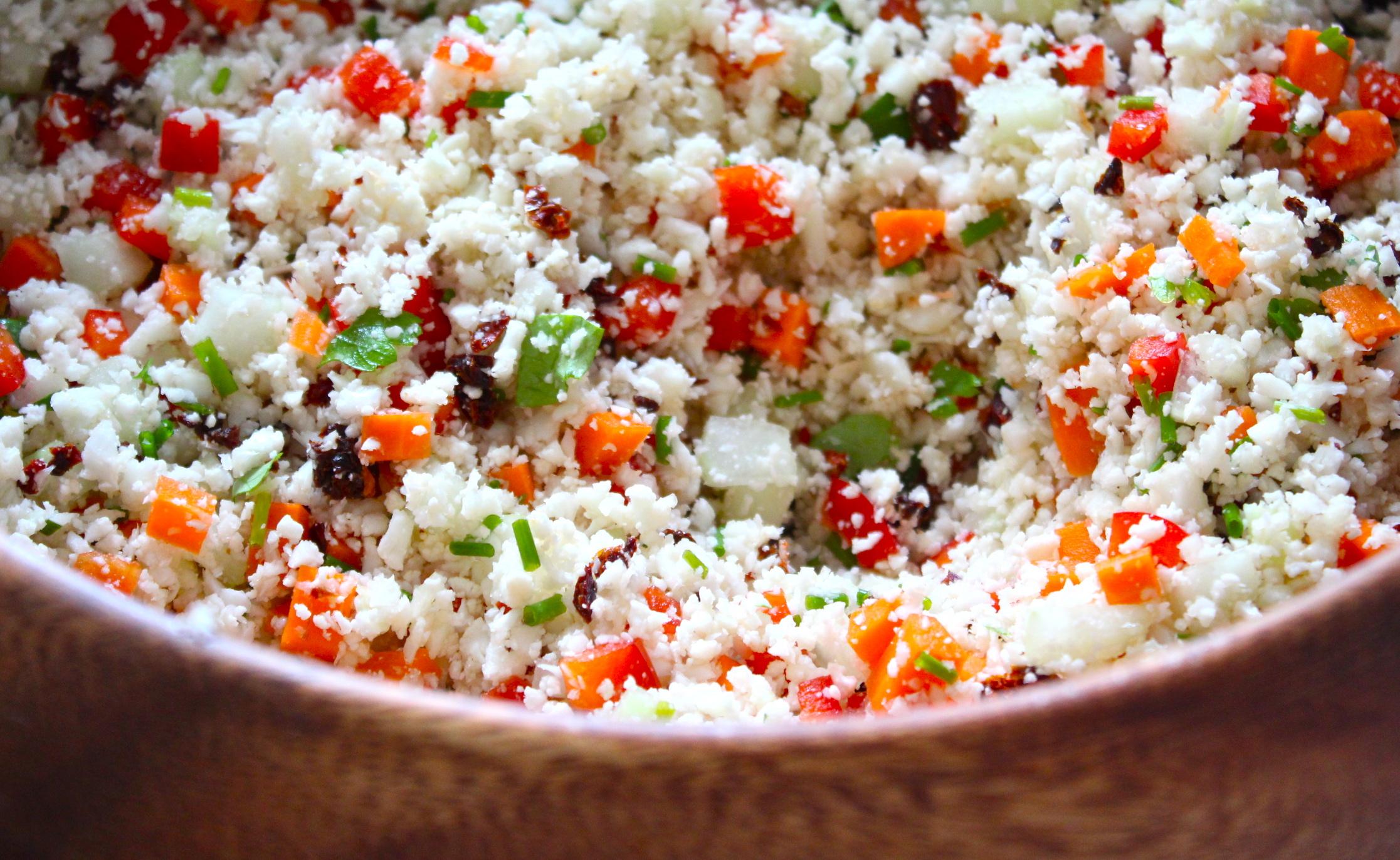 Raw Cauliflower Couscous Salad   HuffPost